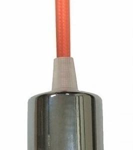 Ανάρτηση Πορτοκαλί Καλώδιο Κρεμαστό Φωτιστικό Χρώμιο 1Φ V-TAC 3788