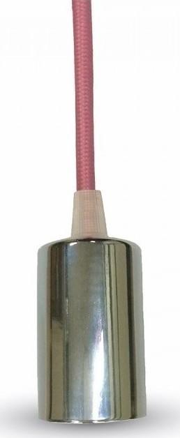 Ανάρτηση Ροζ Καλώδιο Κρεμαστό Φωτιστικό Χρώμιο 1Φ V-TAC 3789