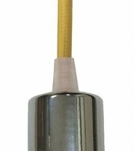Ανάρτηση Κίτρινο Καλώδιο Κρεμαστό Φωτιστικό Χρώμιο 1Φ V-TAC 3793