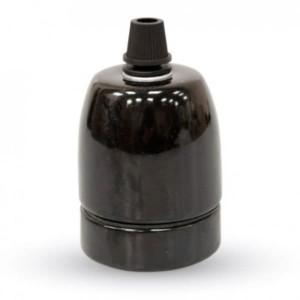 Ντουί Πορσελάνης Μαύρο Ε27 V-TAC 3796