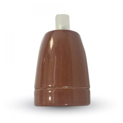 Ντουί Πορσελάνης Καφέ Ε27 V-TAC 3802
