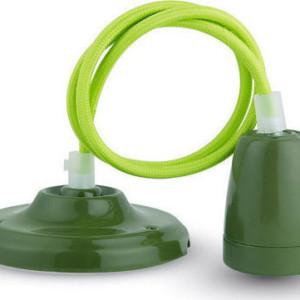 Ανάρτηση Πορσελάνης-Πράσινο Κρεμαστό Φωτιστικό 1Φ V-TAC 3805