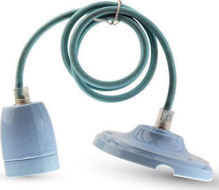 Ανάρτηση Πορσελάνης-Μπλε Κρεμαστό Φωτιστικό 1Φ V-TAC 3806