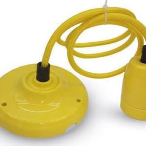Ανάρτηση Πορσελάνης-Κίτρινο Κρεμαστό Φωτιστικό 1Φ V-TAC 3809