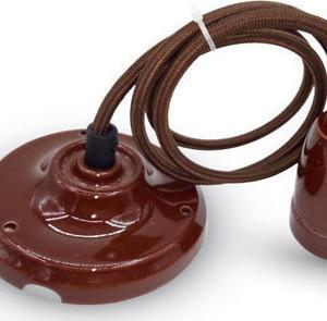 Ανάρτηση Πορσελάνης-Καφέ Κρεμαστό Φωτιστικό 1Φ V-TAC 3810