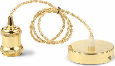Ανάρτηση Μεταλλική-Χρυσό Κρεμαστό Φωτιστικό 1Φ V-TAC 3844