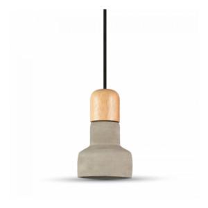 Κρεμαστό Φωτιστικό 1Φ Τσιμεντένιο (+ Ξύλο) Γκρί V-TAC 3855