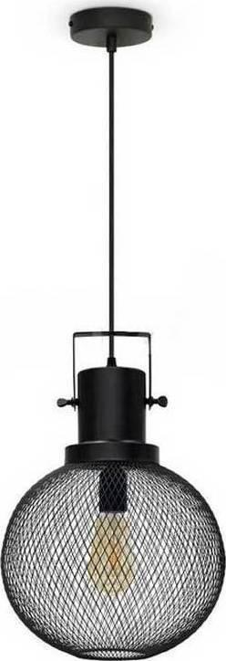 Κρεμαστό Φωτιστικό 1Φ Μεταλλικό Πλέγμα Globe Μαύρο V-TAC 3859
