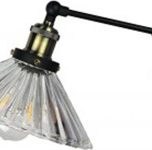 Φωτιστικό Τοίχου Διάφανο Γυαλί (+Μέταλλο) V-TAC 3863