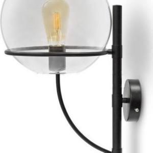 Φωτιστικό Τοίχου Διάφανο Globe Γυαλί (+Μέταλλο) V-TAC 3864