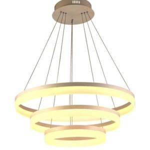Τριπλός Πολυέλαιος με 3 Ρυθμιζόμενους Δακτυλίους LED 80W 3000K-Θερμό Λευκό   V-TAC 3871