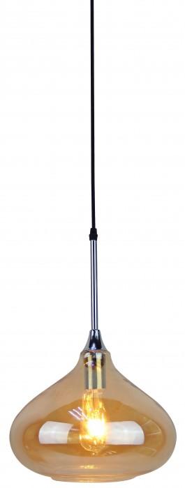Κρεμαστό Φωτιστικό 1Φ Amber Γυαλί V-TAC 3886