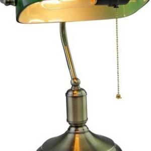 Φωτιστικό Γραφείου Vintage Πράσινο Γυαλί Ε27 V-TAC 3912