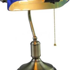 Φωτιστικό Γραφείου Vintage Μπλε Γυαλί Ε27 V-TAC 3913