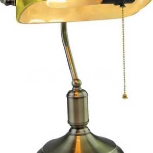 Φωτιστικό Γραφείου Vintage Κίτρινο Γυαλί Ε27 V-TAC 3914