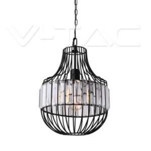 Κρεμαστό Φωτιστικό Μεταλλικό Μαύρο και Κρύσταλλο V-TAC 3957