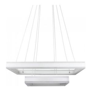 Κρεμαστός Τετράγωνος Πολυέλαιος Λευκό Σώμα LED 115W Triac Dimmable 2 επιπέδων Θερμό Φως 3000Κ V-TAC 3986