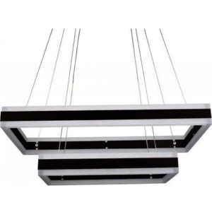 Κρεμαστός Τετράγωνος Πολυέλαιος Μαύρο Σώμα LED 115W Triac Dimmable 2 επιπέδων Θερμό Φως 3000Κ V-TAC 3987