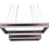 Κρεμαστός Τετράγωνος Πολυέλαιος Καφέ Σώμα LED 115W Triac Dimmable 2 επιπέδων Θερμό Φως 3000Κ V-TAC 3988