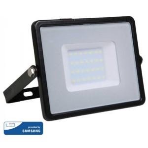 Προβολέας LED 30W Samsung Chip 3000K-Θερμό Λευκό V-TAC 400 Μαύρος