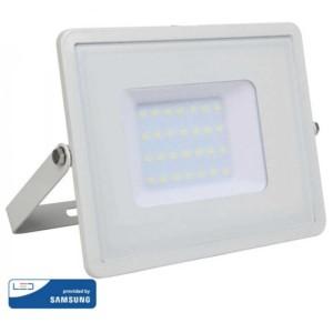Προβολέας LED 30W Samsung Chip 3000K-Θερμό Λευκό V-TAC 403 Λευκός