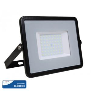 Προβολέας LED 50W Samsung Chip 3000K-Θερμό Λευκό V-TAC 406 Μαύρος