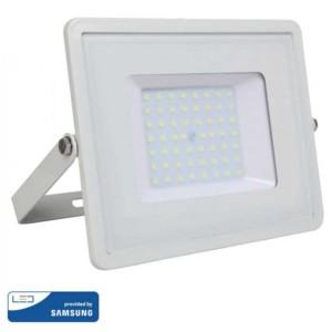 Προβολέας LED 50W Samsung Chip 3000K-Θερμό Λευκό V-TAC 409 Λευκός
