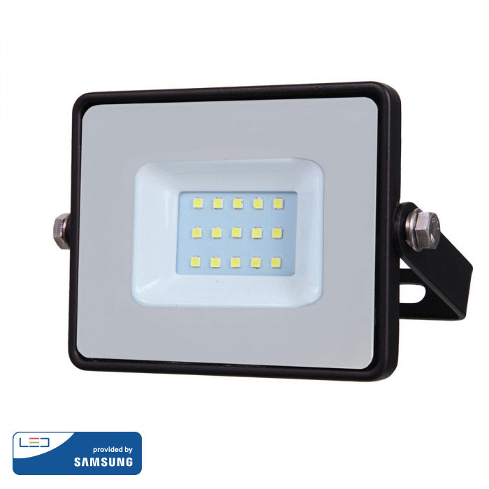 Προβολέας LED 10W Samsung Chip 3000K-Θερμό Λευκό Μαύρος V-TAC 424