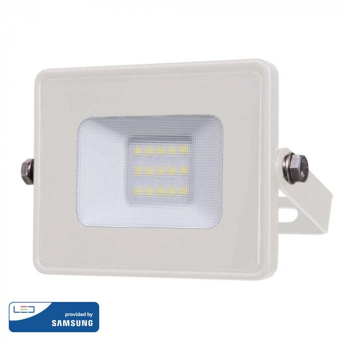 Προβολέας LED 10W Samsung Chip 3000K-Θερμό Λευκό Λευκός V-TAC 427