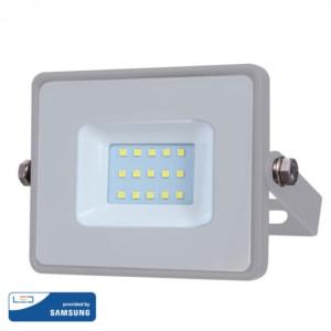 Προβολέας LED 10W Samsung Chip 3000K-Θερμό Λευκό Γκρι V-TAC 430