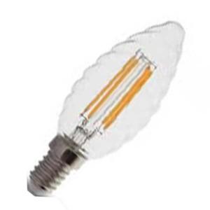 Λάμπα Κερί Twist Led 4W 2700K Θερμό Λευκό E14