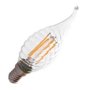 Λάμπα Κερί Ακίδα Twist Led 4W 2700K Θερμό Λευκό E14