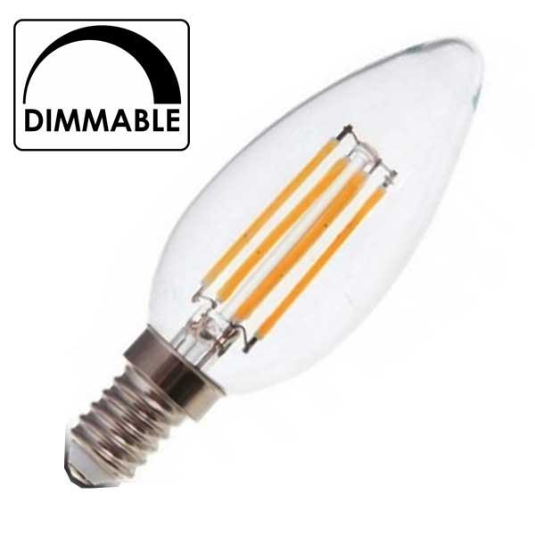 Λάμπα Κερί Led 4W 2700K Θερμό Λευκό Dimmable E14