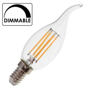 Λάμπα Κερί Ακίδα Led 4W 2700K Θερμό Λευκό Dimmable E14