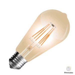 Λάμπα Led AMBER Avocando 4W Dimmable Νήματος E27 4368 V-Tac