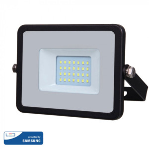 Προβολέας LED 20W Samsung Chip 3000K-Θερμό Λευκό V-TAC 439 Μαύρος