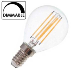 Λάμπα Σφαιρική Led 4W 2700K Θερμό Λευκό Dimmable P45 E14