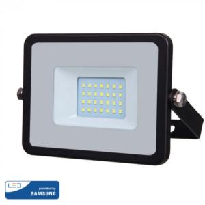 Προβολέας LED 20W Samsung Chip 4000K-Ουδέτερο Λευκό V-TAC 440 Μαύρος