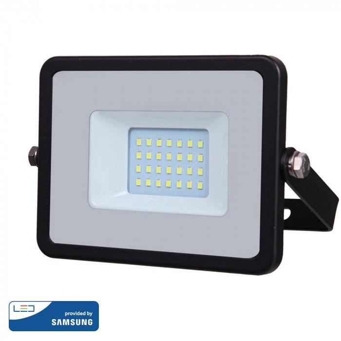 Προβολέας LED 20W Samsung Chip 6400K-Ψυχρό Λευκό V-TAC 441 Μαύρος