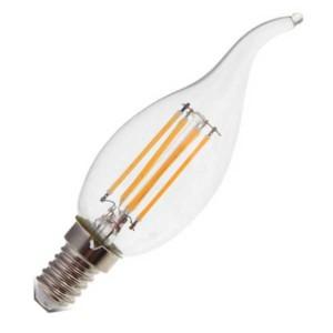 Λάμπα Κερί Ακίδα Led 4W 6400K Ψυχρό Λευκό E14