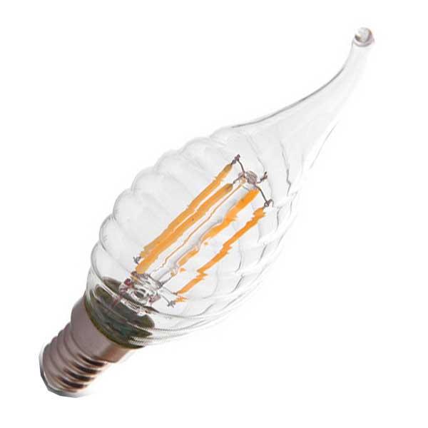 Λάμπα Κερί Ακίδα Twist Led 4W 6400K Ψυχρό Λευκό E14