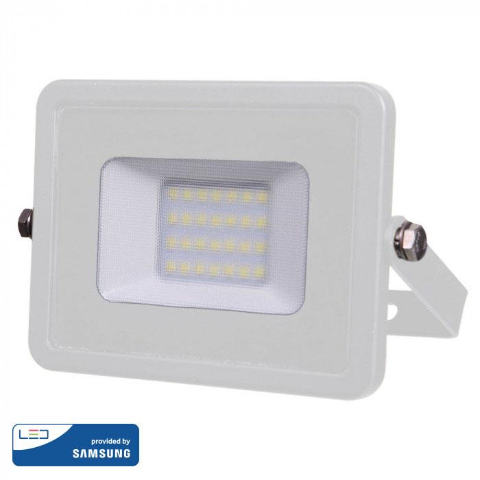 Προβολέας LED 20W Samsung Chip 6400K-Ψυχρό Λευκό V-TAC 444 Λευκός