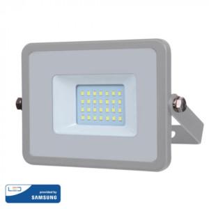 Προβολέας LED 20W Samsung Chip 3000K-Θερμό Λευκό V-TAC 445 Γκρι