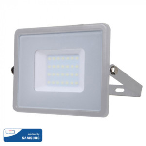 Προβολέας LED 30W Samsung Chip 4000K-Ουδέτερο Λευκό V-TAC 455 Γκρι