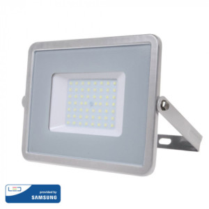 Προβολέας LED 50W Samsung Chip 4000K-Ουδέτερο Λευκό V-TAC 464 Γκρι