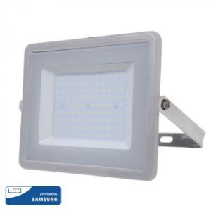 Προβολέας LED 100W Samsung Chip 3000K-Θερμό Λευκό V-TAC 472 Γκρι