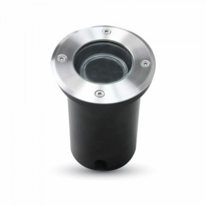 Χωνευτό Φωτιστικό Δαπέδου GU10 Αλουμίνιο Χρώμιο V-TAC 4791