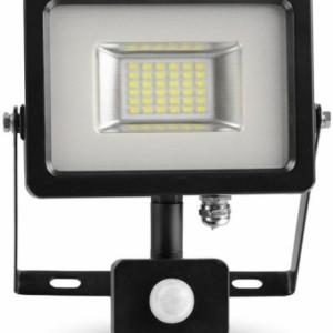 Προβολέας LED 20W Sensor 3000K-Θερμό Λευκό SMD V-TAC 5697 Μαύρος-Γκρί