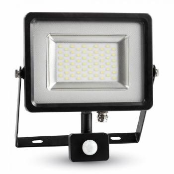 Προβολέας LED 50W Sensor 3000K-Θερμό Λευκό SMD V-TAC 5701 Μαύρος
