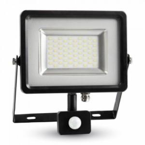 Προβολέας LED 50W Sensor 6000K-Ψυχρό Λευκό SMD V-TAC 5717 Μαύρος